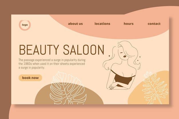 Plantilla de página de destino de salón de belleza