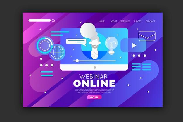 Plantilla de página de destino de seminario web