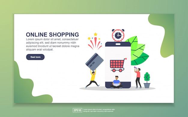 Plantilla de página de destino de shoppin en línea