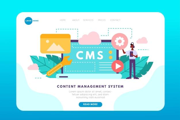 Plantilla de página de destino del sistema de gestión de contenido