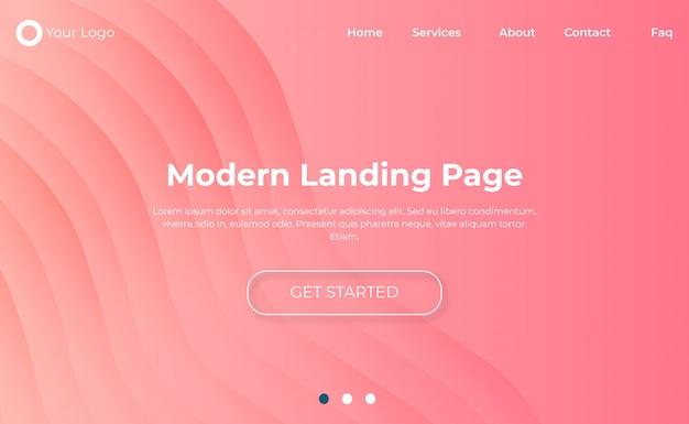 Plantilla de página de destino de sitio web moderno