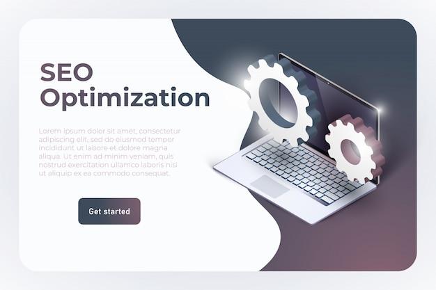Plantilla de página de destino del sitio web de optimización seo.