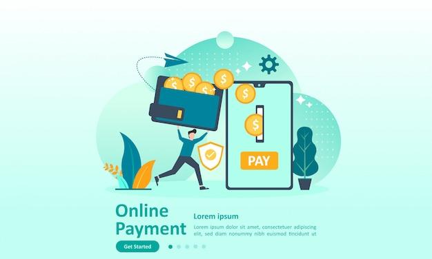 Plantilla de página de destino de transferencia de dinero