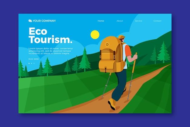 Plantilla de página de destino de turismo ecológico