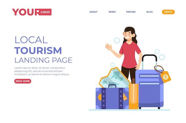 Plantilla de página de destino de turismo local