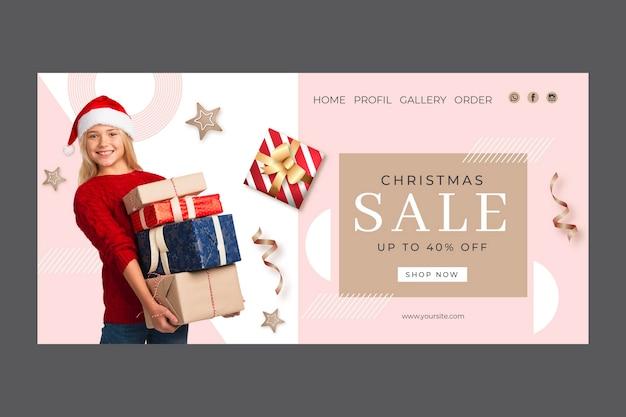 Plantilla de página de destino de venta de navidad