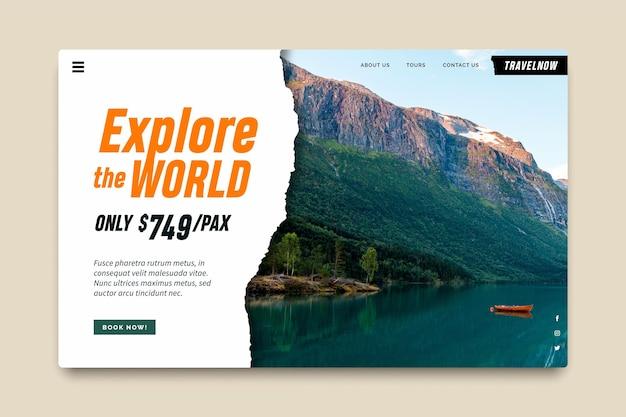 Plantilla de página de destino de venta de viajes
