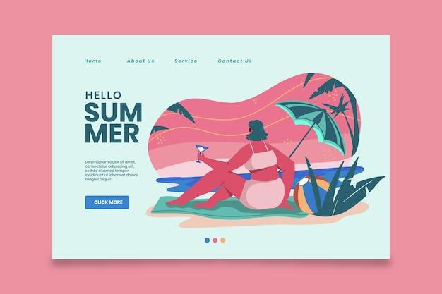 Plantilla de página de destino de verano