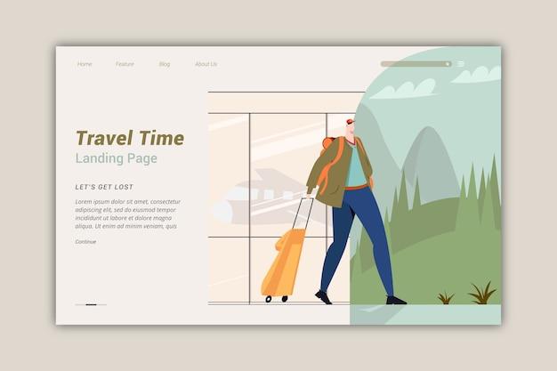Plantilla de página de destino de viaje