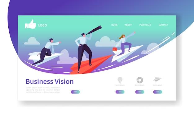 Plantilla de página de destino de visión empresarial