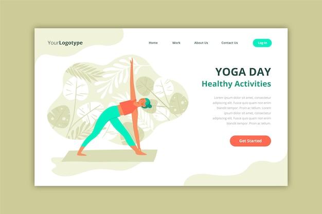 Plantilla de página de destino de yoga