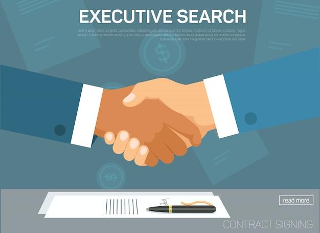 Plantilla de página de inicio de búsqueda ejecutiva