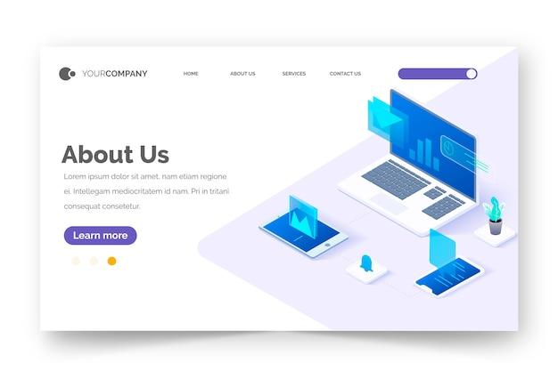 Plantilla de página de inicio de concepto de tecnología