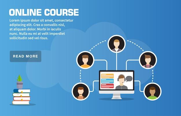 Plantilla de página de inicio de curso en línea