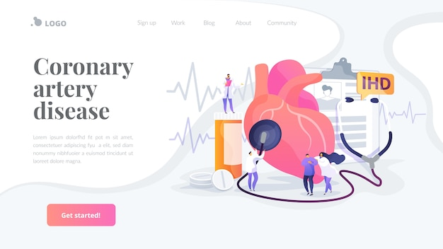 Plantilla de página de inicio de enfermedad de las arterias coronarias
