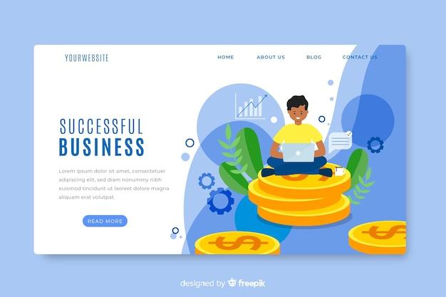 Plantilla de página de inicio de negocios
