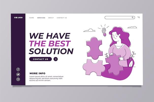 Plantilla de página de inicio púrpura moderna