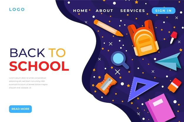 Plantilla de página de inicio de regreso a la escuela