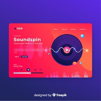 Plantilla de página de inicio soundspin