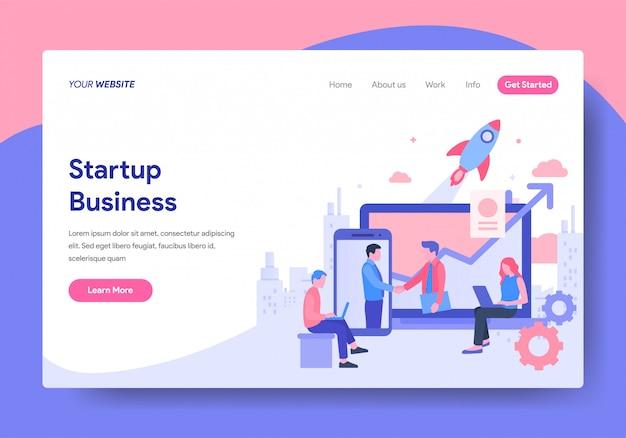 Plantilla de página de inicio de startup business