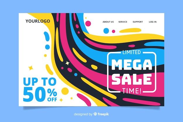Plantilla de página de inicio de ventas abstractas