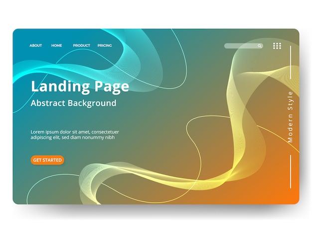 Plantilla para página de inicio web, banner, presentación