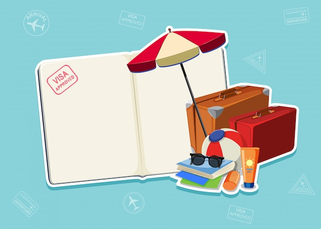 Plantilla de página de pasaporte en blanco