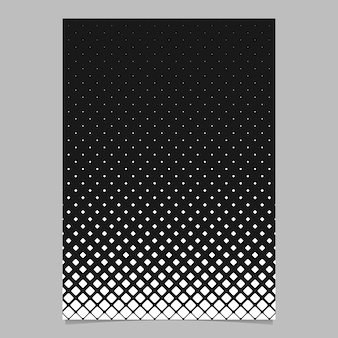 Plantilla de página de patrón de cuadrícula cuadrada diagonal abstracto monocromo - diseño de fondo de folleto de vector blanco y negro