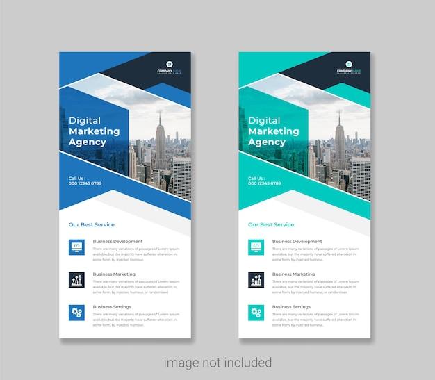 Plantilla de página de portada de folleto y diseño de volante dl de negocios creativos vector premium vector premium