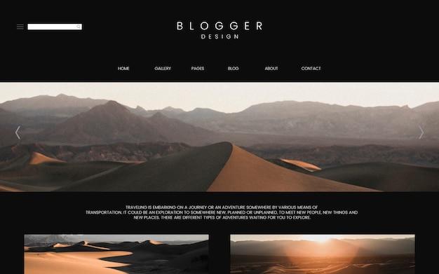 Plantilla de la página principal del blog