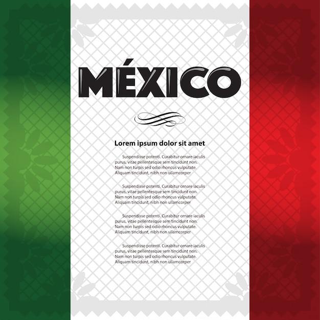 Plantilla de página de vacaciones mexicanas