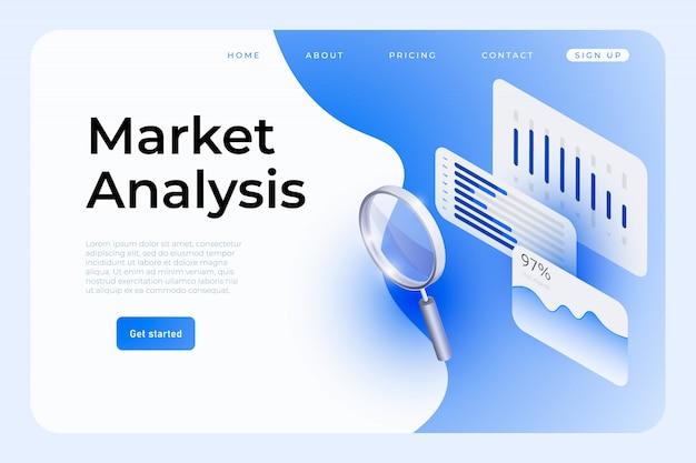 Plantilla de página web de análisis de mercado