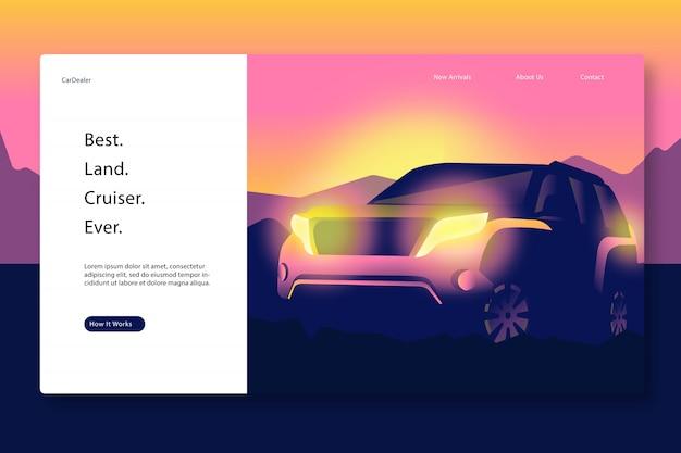 Plantilla de página web creativa