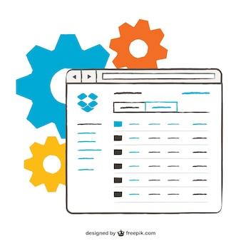 Plantilla de página web con diseño esquemático