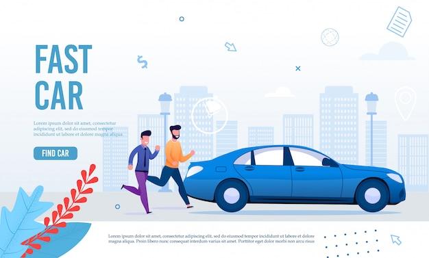 Plantilla de página web de fast city transportation service