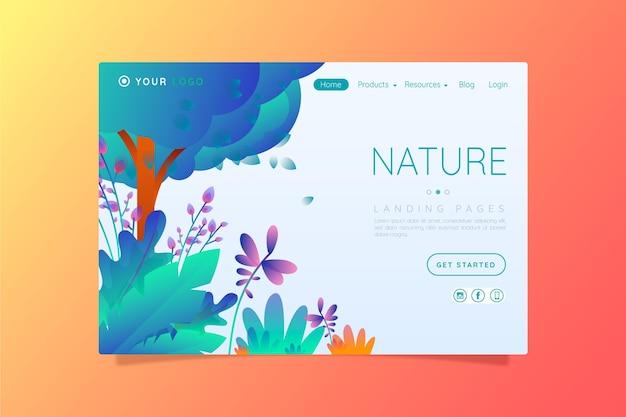 Plantilla de páginas de aterrizaje de naturaleza