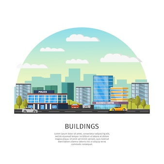 Plantilla de paisaje urbano moderno