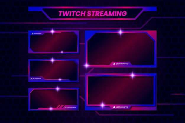 Plantilla de paneles de transmisión de twitch