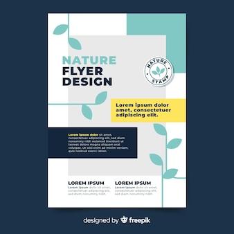 Plantilla de panfleto de naturaleza