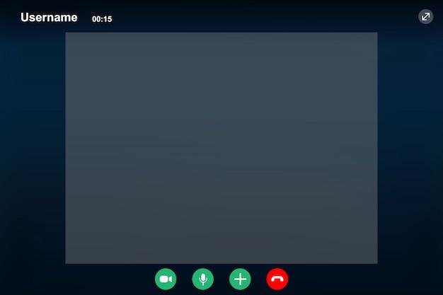Plantilla de pantalla de videollamada.