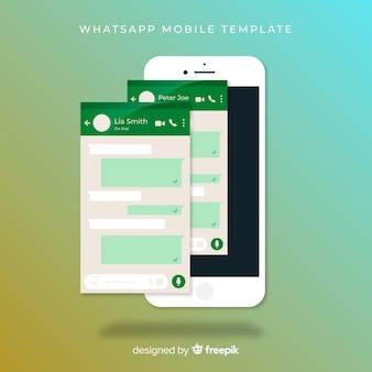 Plantilla de pantalla de whatsapp