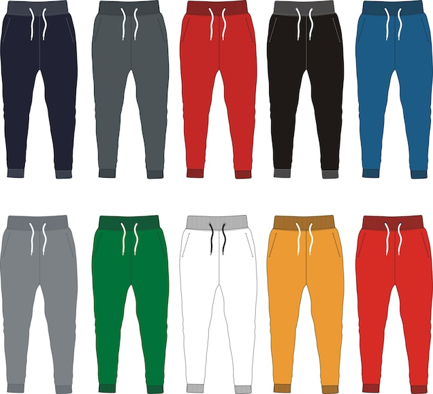 Plantilla de pantalones