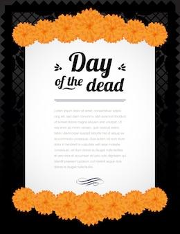 Plantilla de papel del día de los muertos