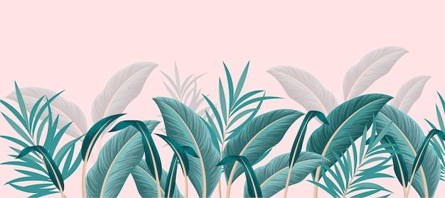 Plantilla de papel tapiz mural tropical