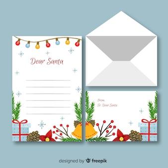 Plantilla de papelería de navidad acuarela