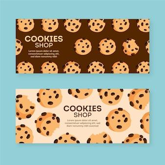 Plantilla de paquete de banner de tienda de galletas