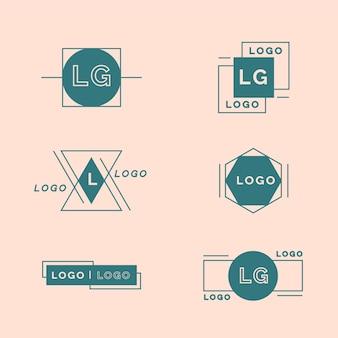 Plantilla de paquete de logotipo mínimo en dos colores.