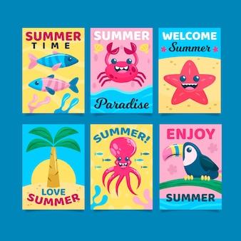 Plantilla de paquete de tarjeta de verano