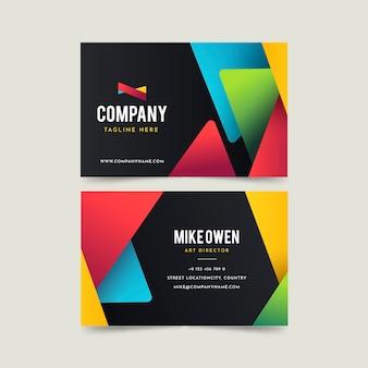 Plantilla de paquete de tarjeta de visita colorida abstracta