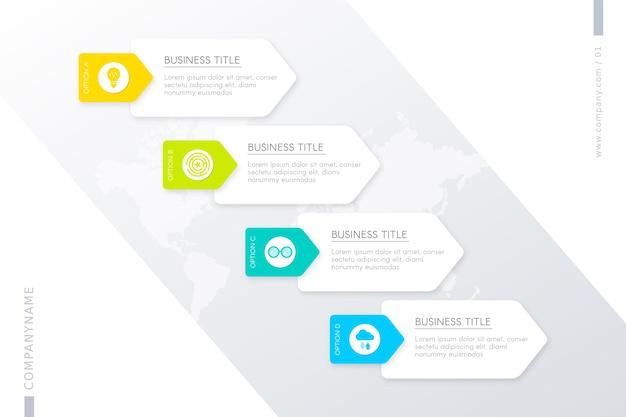 Plantilla con pasos para infografía